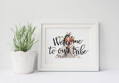 """PRINTABLE Art """"Welcome To Our Tribe"""" Home Decor Welcome Sign Teepee Floral Teepee Art Print TeePee Wall Art Welcome Home Sign by WishfulPrinting on Etsy https://www.etsy.com/listing/265161699/printable-art-welcome-to-our-tribe-home"""