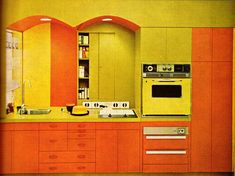 Furnishings 11 From Practical Encyclopedia of Good Decorating and Home Improvement. Vintage Interior Design, Vintage Interiors, Retro Design, Modern Interior, Graphic Design, Vintage Kitchen, Retro Vintage, Kitchen Retro, Nice Kitchen