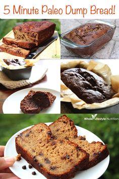 5 Minute Paleo Dump Bread. ☀CQ #GF #glutenfree