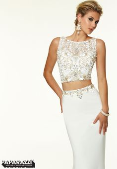 Prom Dresses / Gowns Style 97032: Two Piece Beaded Jersey http://www.morilee.com/prom/paparazzi/97032
