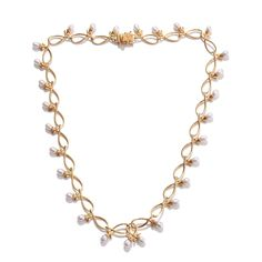 SUGAR by Gay Isber Freshwater Pearl 14K YG Over Sterling Silver Necklace (18 in) TGW 17.85 Cts. | Silver-Jewelry | promotions | online-store | Liquidation Channel