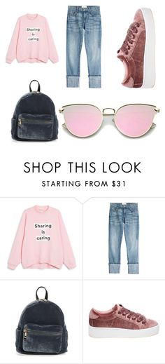 """basic"" by alexandriamcbride on Polyvore featuring Monki, Current/Elliott, BP. and Steve Madden"