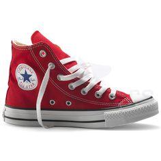 1b69ec792b3c Converse Chuck Taylor All Star Red Hi Top Trainers
