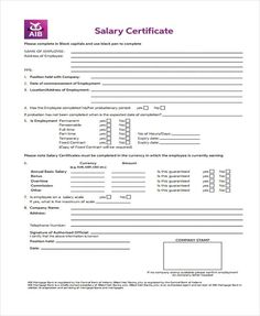 Salary certificate sample is prepared by human resource department of an organization in order to provide legal evidence of employment of an employee on request Certificate Format, Certificate Templates, Job Letter, Net Income, Tax Deductions, Keep In Mind, Human Resources, Finance, Mindfulness