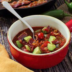 Use GF bacon! Paleo Crockpot Chili