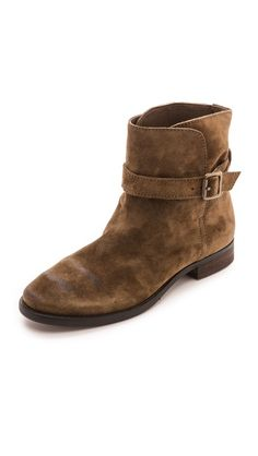 Sam Edelman Malone Distressed Suede Booties