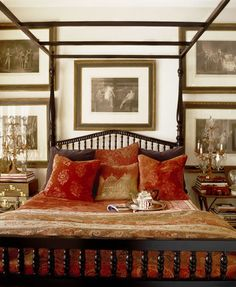 SallyL: Martyn Lawrence-Bullard Design - Colonial style four poster bed with luxurious Indian ...