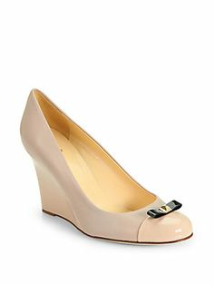 Kate Spade New York Kandid Leather Wedge Pumps