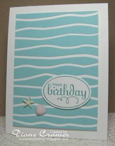 Waves using Stampin Up Perfect Punches