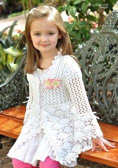Magnolia Lace Coat Crochet Pattern EASTER Sz by mylittlecitygirl, $9.95