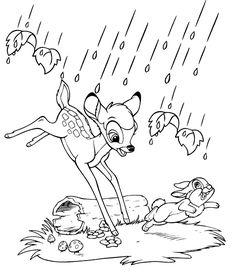 Bambi Og Stampe I Regnen