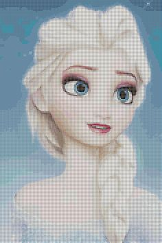 Disney Frozen Elsa Cross Stitch Pattern par BrennaInWonderland