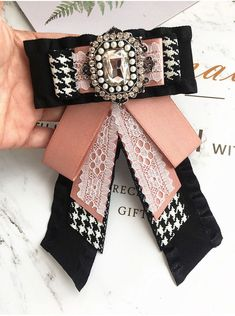 Color: pink and black. Extra price is needed. Ribbon Jewelry, Gold Rings Jewelry, Black Jewelry, Fabric Jewelry, Dainty Jewelry, Jewelry For Her, Boho Jewelry, Unique Jewelry, Jewelry Design