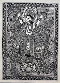 Line Painting, Madhubani India  Art