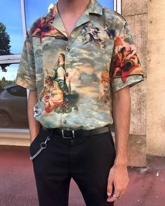 95910351538 The biggest trend in menswear is is the combination of a tucked in shirt