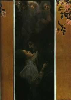 Gustav Klimt: Amore (1895) olio su tela 60x44 Stile: Art nouveau. Periodo: Prime opere