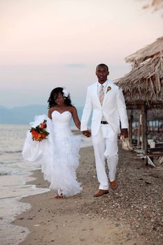 Walking along the beach on Thassos, after the wedding ceremony at the IlioMare, now Mr and Mrs!
