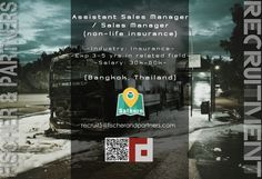 Fischer & Partners Recruitment is seeking ASSISTANT SALES MANAGER / SALES MANAGER to work in Bangkok, Thailand –> Apply Now !!!  recruit5@fischerandpartners.com  https://recruit.zoho.com/recruit/ViewJob.na?digest=duBuh5Cl.xppfB786q9KjLWGzUMFGKfCR0QS4P3Owmc-&embedsource=Embed  http://www.fischerandpartners.com/recruitment-services/