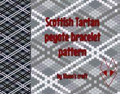 Peyote bracelet pattern even count peyote pattern par Vixenscraft