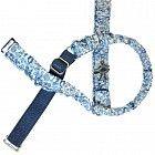 blue liberty print bra straps