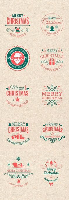 Christmas Badges #photoshop #psd #wishes #Stickers greeting • Available here → https://graphicriver.net/item/christmas-badges/13743118?ref=pxcr