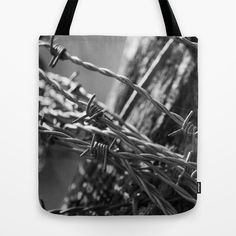 Barbed Wire Tote Bag by Fine2art - $22.00