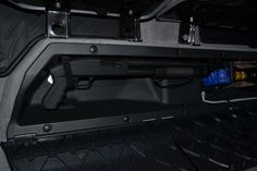 Cheap mod: Double cab under-seat long gun storage - Tacoma World Forums