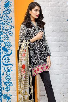 Khaadi 3 Piece Stitched Printed Lawn Suit -A17215-A - BLACK - libasco.com #khaadi #khaadionline #khadiclothes #khaadi2017 #kaadisummer