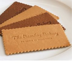 Edible Giftcards or Edible Business Cards!! How impractical but adorable is that?