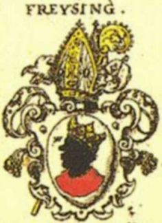 The bishop's coat of arms with the distinctive Moor's head.