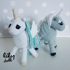 Crochet Amigurumi, Kawaii, Dinosaur Stuffed Animal, Christmas Ornaments, Toys, Holiday Decor, Animals, Plush, Little Pony