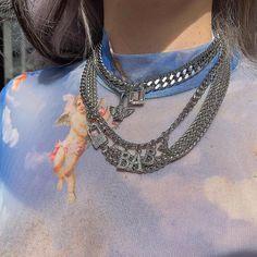 Jewelry Accessories for Women – Fine Sea Glass Jewelry Blue Aesthetic, Aesthetic Fashion, Aesthetic Clothes, Fashion Belts, 90s Fashion, Fashion Outfits, Womens Fashion, Style Fashion, Estilo Grunge
