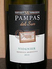 Pampas del Sur Vineyard's Expressions Viognier 2013, DO Mendoza, Argentinië -
