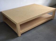 Custom Grasscloth Coffee Table/ Cocktail Table - Design Your OWN