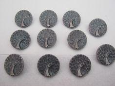 10 Stück Jackenknöpfe mit Öse,Silberfarben,Motivknöpfe (Apfelbaum),Durchmesser ca.23 mm,Neu,Lübecker Knopfmanufaktur. von Knopfshop auf Etsy