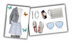 """Summer #8 - Denim Skirt"" by sammers-i on Polyvore featuring Topshop, Alexander Wang, J.Crew, Keds, Nixon, Lauren Ralph Lauren, Christian Dior and Dot & Bo"