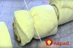 Ak máte radi cukrovinky, tento recept by ste mali rozhodne vyskúšať! Zloženie cesta: 1 šálka mlieka 2 vajcia pol šálky roztaveného masla 4 šálky múky pol šálky cukru 2,5 lyžičky kvasníc Príprava: Vložte ingrediencie do misy. dôkladne premiešajte