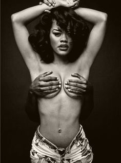 Teyana Taylor, choosing to capitalize on her physical figure in both, the content of her newest album and the complementary visual imagery.