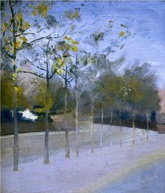 PAUL MAITLAND 1863 - 1909, Chelsea Embankment, Plane Trees, 1908
