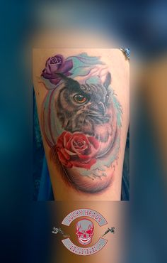 sorry bad picture Head Tattoos, Tattoo Ink, Tatoos, Bad Picture, Watercolor Tattoo, Owl, Pictures, Owl Tat, Photos