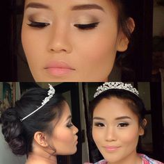 Wedding hair and makeup I did for Filipino beauty.