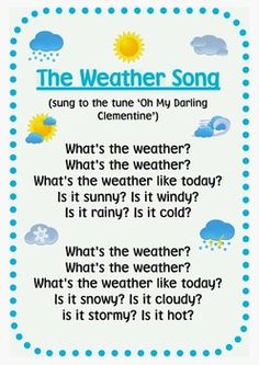 Love this weather song!