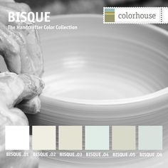 Part of the Handcrafter Color Collection, the BISQUE color family is group of whites ranging from the bright white of porcelain to the muted hues of earthenware.