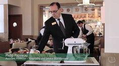 Watch as, CIA Assistant Professor of Hospitality and Service Management Philip Papineau, prepares table side ice cream using liquid nitrogen! Served in our house-made waffle cones.