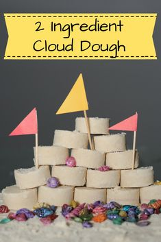 Cloud dough; so simple my child can maker her own and then play for hours!