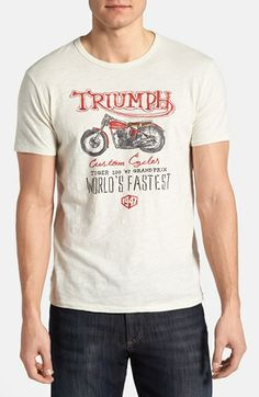 Vintage indian motorcycle t shirt clothing shoes for Lucky brand triumph shirt