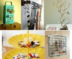 all these ideas are cool, my fave is the towel rack as an earrings holder