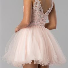 Shop Women's Dancing Queen Pink size 4 Mini at a discounted price at Poshmark. Size 4 short hoco dress with a great back! Blush Formal Dresses, Hoco Dresses, Dance Dresses, Homecoming Dresses, Dancing Queen Dresses, Pretty, Pink, Things To Sell, Fashion