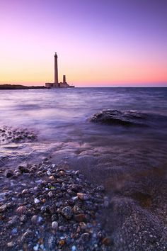 Gatteville Lighthouse, also known as Le Sémaphore de Barfleur, off of Le-Phare, Département de la Manche, Basse-Normandie.  Photo by Florent Criquet, via 500px