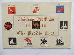 Wartime Military Christmas Card 1945